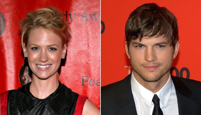 Ashton Kutcher e January Jones Kutcher