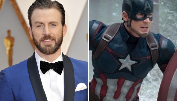Attori personaggi Marvel Chris Evans